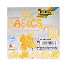 Origami papír Basics 80g/m2 - 15 x 15 cm, 50 archů - žlutý