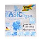 Origami papír Basics 80g/m2 - 15 x 15 cm, 50 archů - modrý