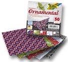 Origami papír Ornamental 80g/m2 - 10 x 10 cm, 50 archů
