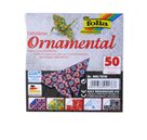 Origami papír Ornamental 80g/m2 - 20 x 20 cm, 50 archů