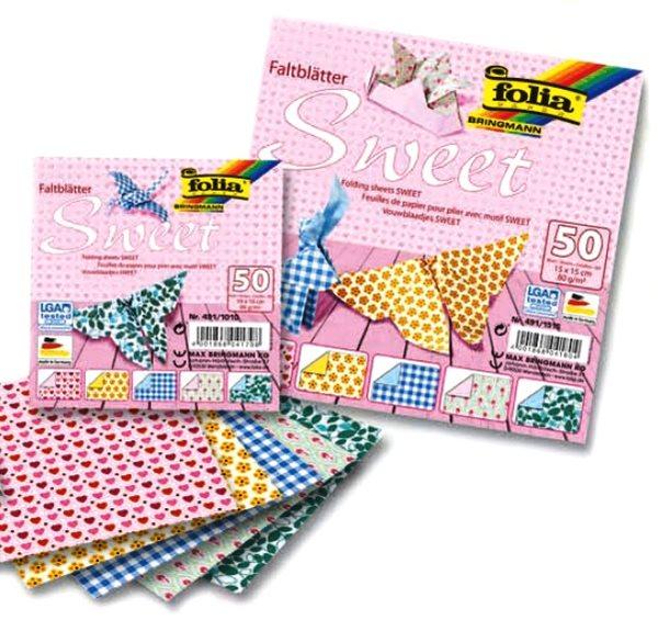 Origami papír Sweet 80g/m2 - 15 x 15 cm, 50 archů