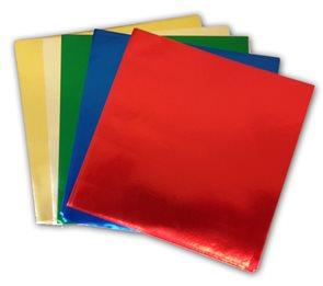 Origami papír z alufolie - 15 x 15 cm, 50 archů