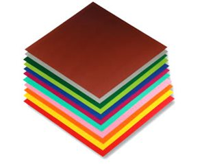 Origami papír barevný 80g/m2 - 10 x 10 cm, 96 archů