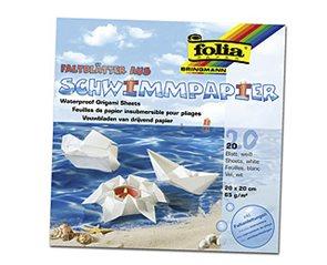 Origami papír voděodolný 65g/m2 - 20 x 20 cm, 20 archů