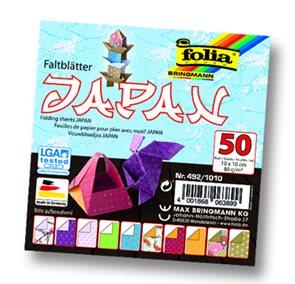 Origami papír Japonsko 80g/m2 - 10 x 10 cm, 50 archů
