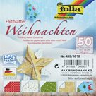 Origami papír Vánoce - 80g/m2 - 10 x 10 cm, 50 archů