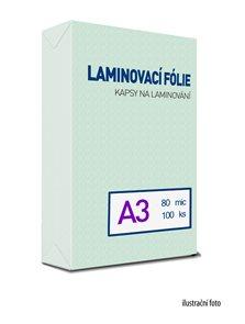 Laminovací fólie - kapsy A3, 80 mic (100 ks)