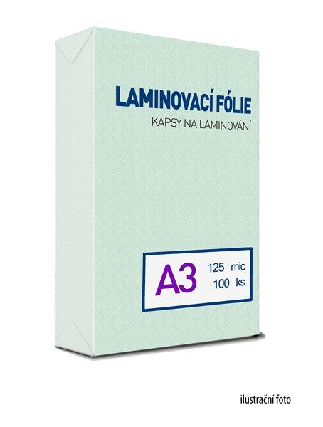 Laminovací fólie - kapsy A3, 125 mic (100 ks)