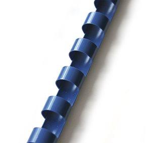 Plastový hřbet 6 mm 100ks - modrý