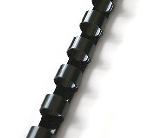 Plastový hřbet 14 mm 100ks - černý