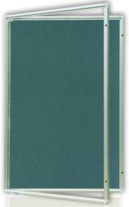 Vitrína interiérová 90x60 cm, vertikální otevírání uzamykatelné, modrý filcový povrch