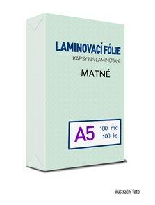 Laminovací folie - kapsy A5, 100 mic (100 ks) MAT