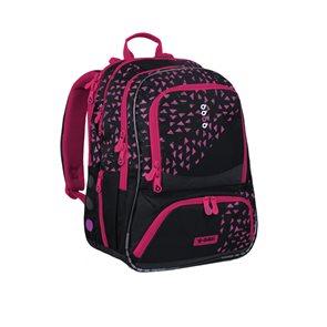 Školní batoh CHI 185 A2 - Black/Magenta