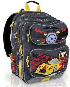 Školní batoh CHI 600 C Grey - Auto /Topgal/