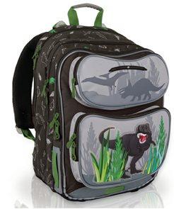 Školní batoh CHI 600 K Brown - Dino /Topgal/