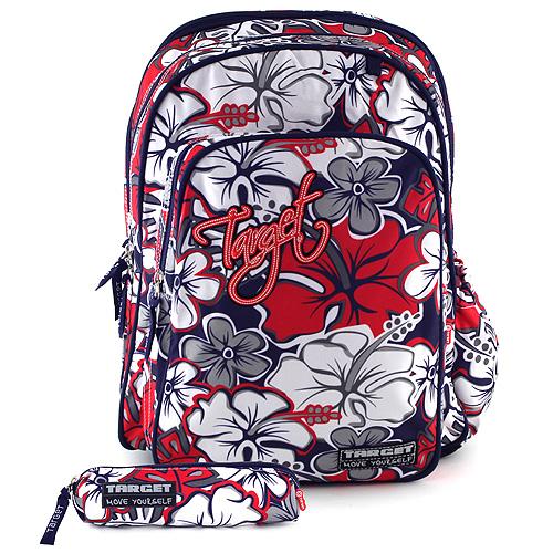 Školní batoh Target - Kytky, Sleva 15%