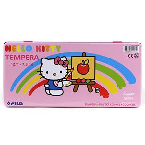 Temperové barvy Hello Kitty - 12 x 7,5 ml