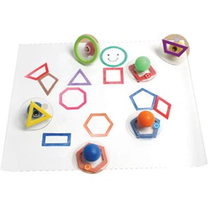 Velká razítka - Geometrické obrysy (10 ks)