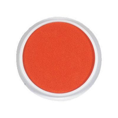Kruhový polštářek - oranžová barva