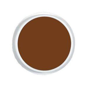 Kruhový polštářek - hnědá barva