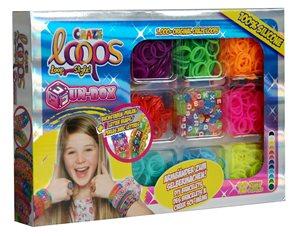 Gumičky Loops Fun box - sada 12 barev ( 1000 ks )