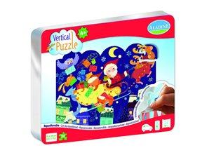 Vertikální puzzle 24 dílků - Vánoční nadílka
