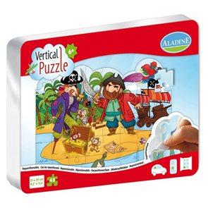 Vertikální puzzle 48 dílků - Piráti