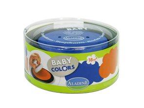 Polštářky k razítkům - barva modrá + oranžová
