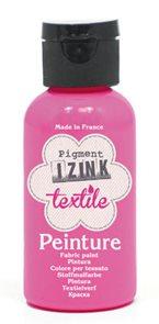 Barva na textil IZINK - klasická - 50 ml - zářivá růžová