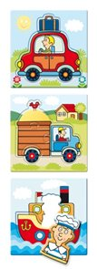 Baby puzzle s tvarovanými dílky - Dopravní prostředky
