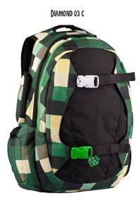 Studentský batoh DIAMOND 03 C - černo-zelená