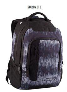 Studentský batoh HUDSON - 01 B - černo-šedá