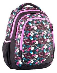 Školní batoh SKULL 0114A Lebka - růžová