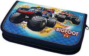 Školní penál - BIGFOOT - jednopatrový, 1 klopa