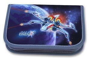 Školní penál - Galaxy - jednopatrový, 1 klopa