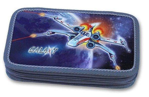 Školní penál - Galaxy - dvoupatrový