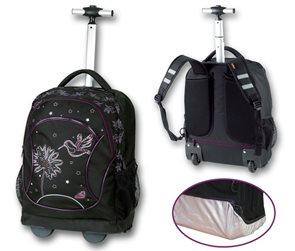 Studentský batoh na kolečkách - Kolibřík černá