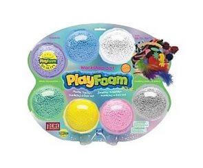 PlayFoam Workshop set (7 barev) - fialová, modrá, bílá, zelená, žlutá, růžová, šedá, tvořivé doplňky