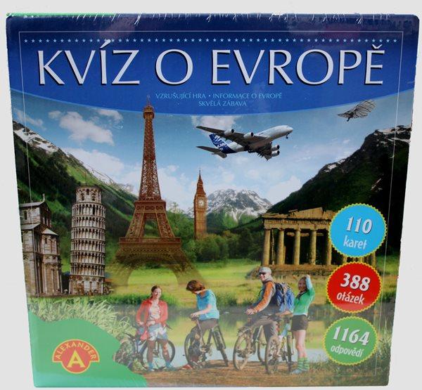 Kvíz o Evropě, věk 10+ - 18 x 12 x 4 cm