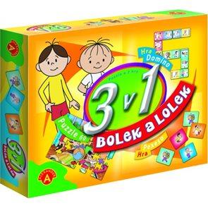 Bolek a Lolek - hry 3 v1 / pexeso, domino, puzzle 60/