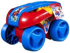 Vozík s kostkami červenomodrý / stavebnice Mega Bloks/