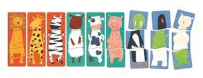 Puzzle pro nejmenší - Veselá zvířátka 3×9 dílů
