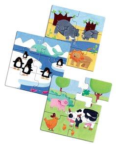 Puzzle pro nejmenší - Zvířátka 3x6 dílů