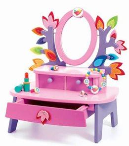 Toaletní stolek - růžový