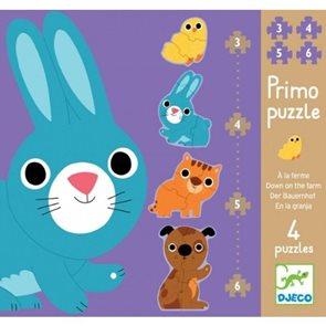 Puzzle Primo - Na farmě 3,4,5,6