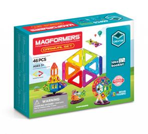 Magformers Carnival (38 dílů - 24 čtverců, 12 trojuh., 2 šestiúhelníky, a spec. příslušenství)