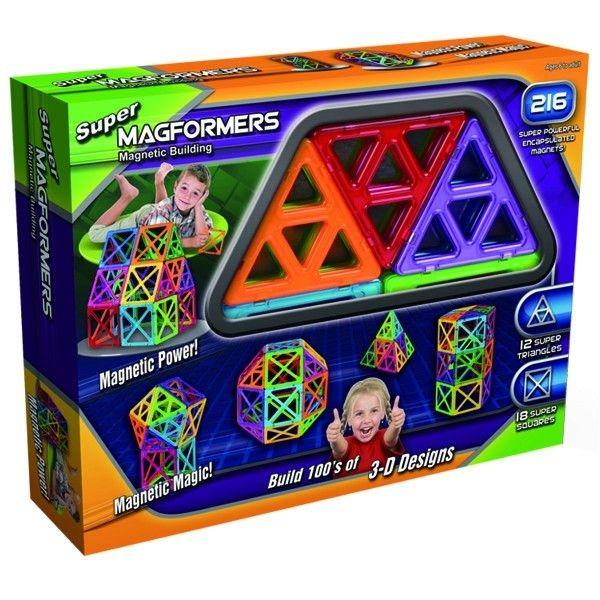Super Magformers - 30 ( 30 dílů - 18 superčtverečků, 12 supertrojúhelníků), Doprava zdarma