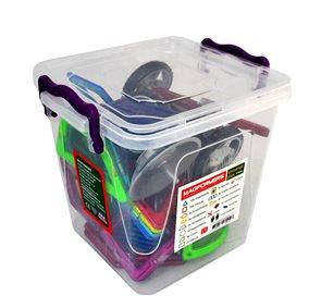 Universal PLUS ( box) - Magformers - magnetická stavebnice 57 dílů ( 12 trojúhelníků, 16 čtverců, 4