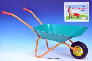 Plechové kolečko velké zelené - Yupee - 78× 40× 32 cm