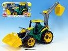 Traktor se lžící a bagrem plastový 75 cm